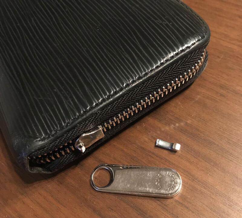 スライサーが折れた財布