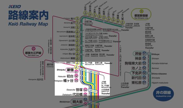 京王線路線図