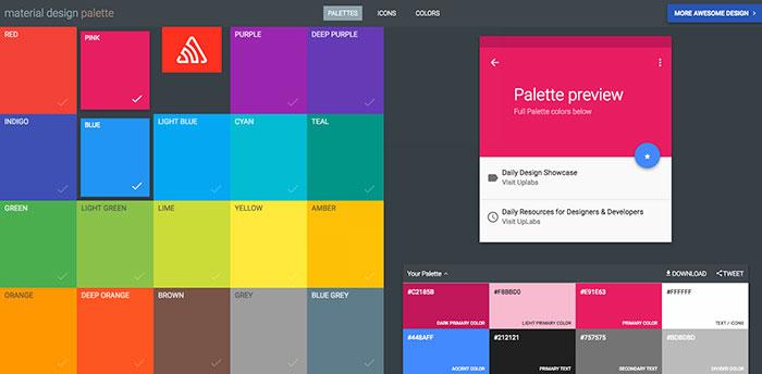 material design palette