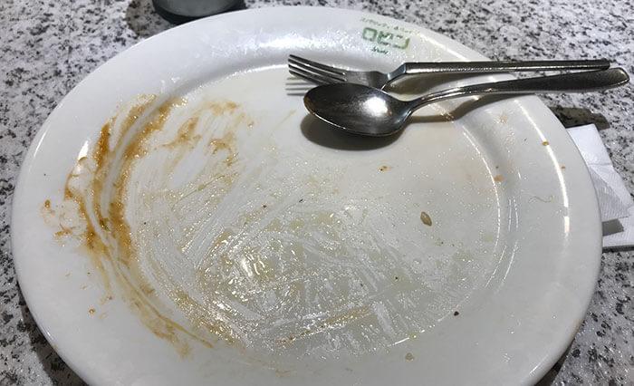 ごちそうさまでした皿