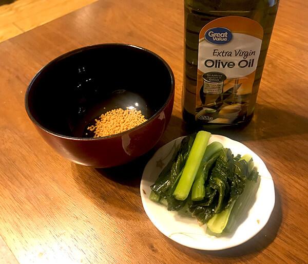 野沢菜漬けスープの材料
