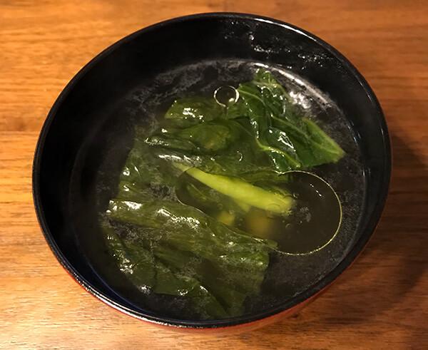 野沢菜漬けスープのできあがり